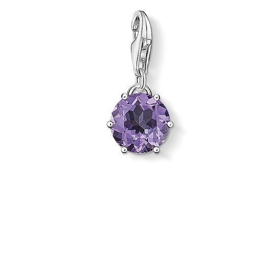 Charm pendant birth stone February from the  collection in the THOMAS SABO online store