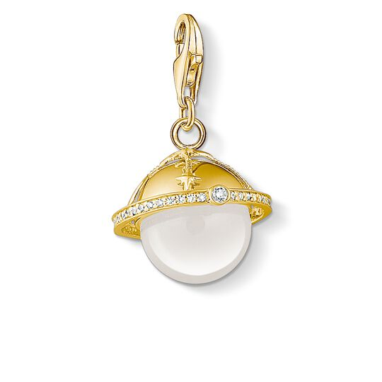 Charm pendant golden planet from the Charm Club collection in the THOMAS SABO online store