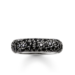 "band ring ""black crushed pavé"" from the Glam & Soul collection in the THOMAS SABO online store"