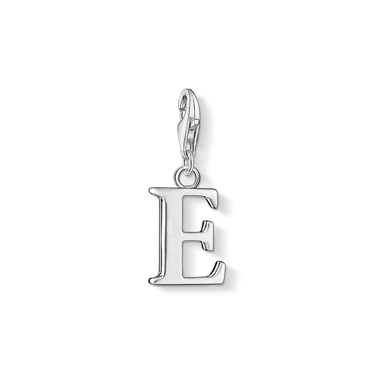 Charm pendant letter E from the Charm Club collection in the THOMAS SABO online store