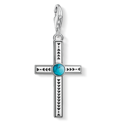 """Charm pendant """"Ethnic Cross Turquoise"""" from the  collection in the THOMAS SABO online store"""
