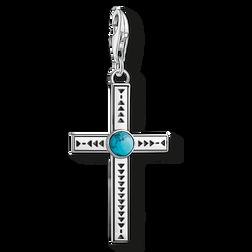 """pendentif Charm """"Croix ethnique turquoise"""" de la collection  dans la boutique en ligne de THOMAS SABO"""