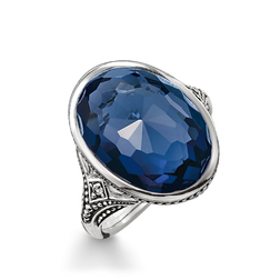 "cocktail ring ""dark blue"" from the Glam & Soul collection in the THOMAS SABO online store"
