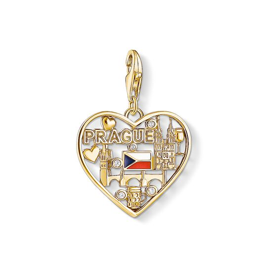 Charm pendant We love Prague gold from the Charm Club collection in the THOMAS SABO online store