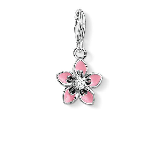 Charm pendant pink flower from the  collection in the THOMAS SABO online store