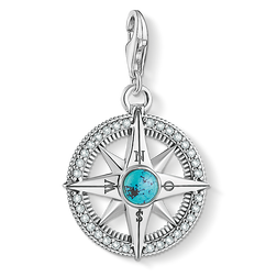 Charm pendant compass turquoise from the Charm Club Collection collection in the THOMAS SABO online store