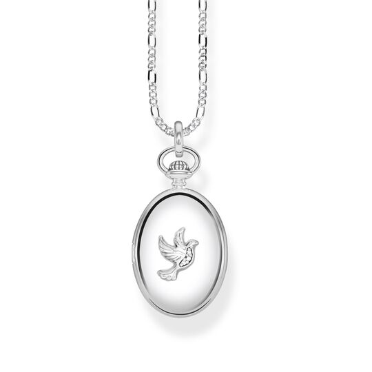 "necklace ""Locket dove oval"" from the Glam & Soul collection in the THOMAS SABO online store"