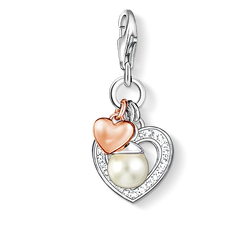 "Charm pendant ""hearts with pearl"" from the  collection in the THOMAS SABO online store"