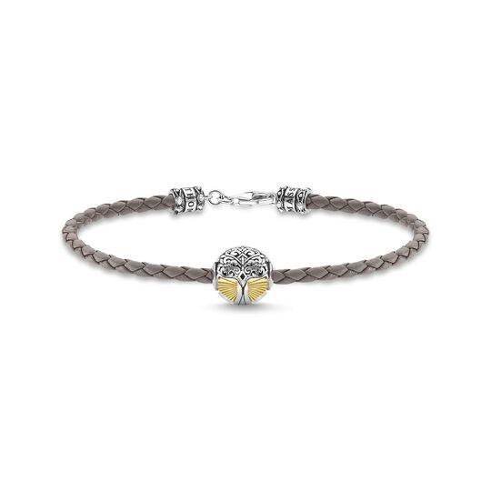 Bracelet en cuir gris arbre de l'amour or de la collection  dans la boutique en ligne de THOMAS SABO