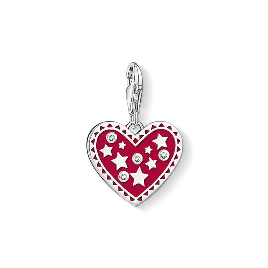 Charm pendant Heart with stars from the Charm Club collection in the THOMAS SABO online store
