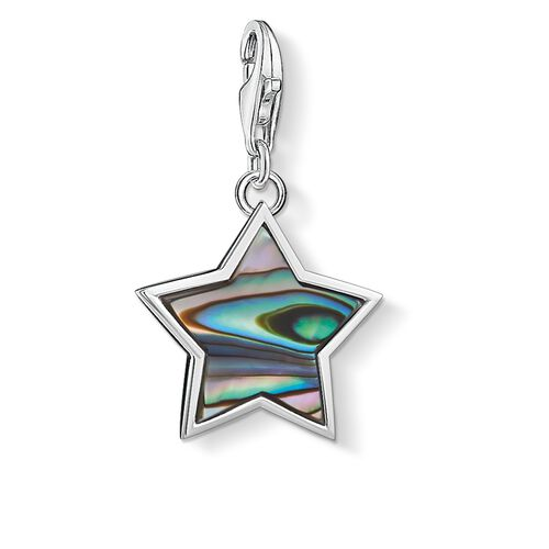 "Charm pendant ""star mother-of-pearl turquoise"" from the  collection in the THOMAS SABO online store"