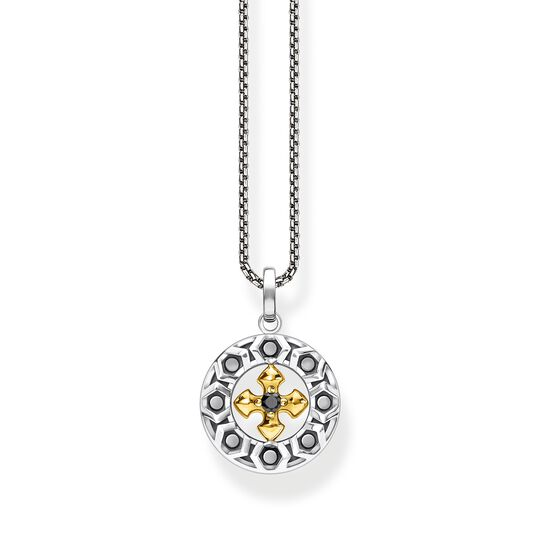 Necklace cross black stones gold from the  collection in the THOMAS SABO online store