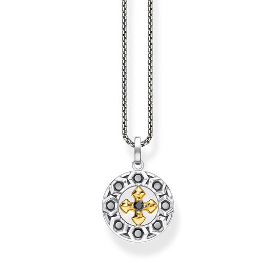 Necklace cross black stones gold from the Rebel at heart collection in the THOMAS SABO online store