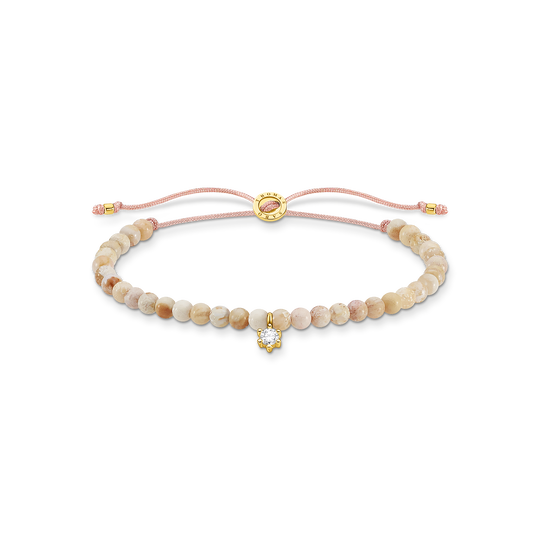 Bracelet perles avec pierre blanche de la collection Charming Collection dans la boutique en ligne de THOMAS SABO