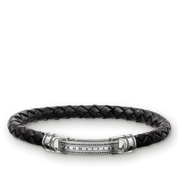 bracelet cuir noir de la collection Rebel at heart dans la boutique en ligne de THOMAS SABO