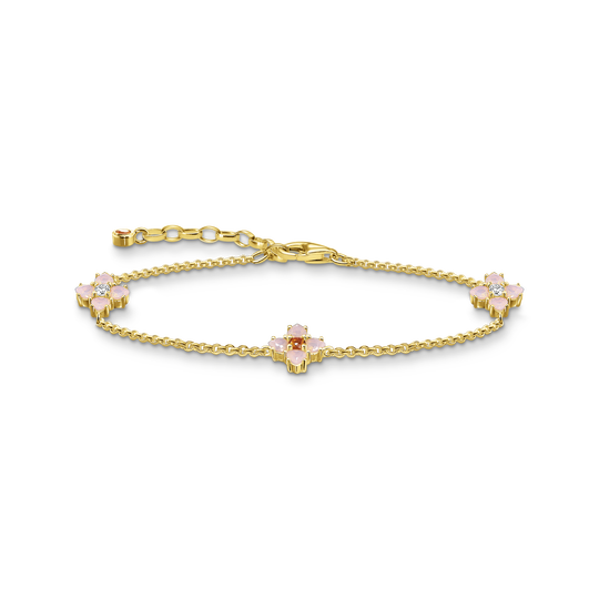 Bracelet fleur or de la collection Glam & Soul dans la boutique en ligne de THOMAS SABO