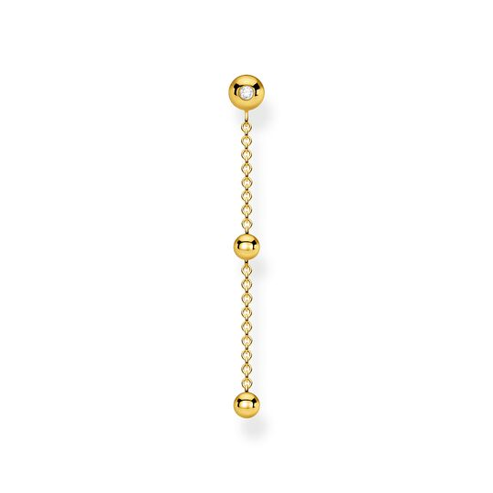Single earring dots with white stones gold from the Charming Collection collection in the THOMAS SABO online store