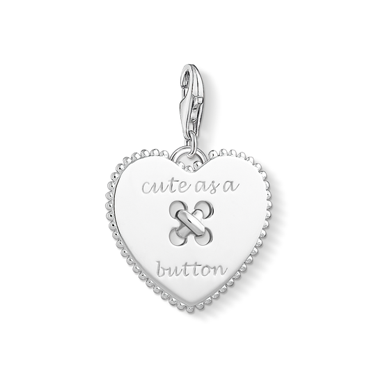 Charm pendant Heart - Cute as a Button from the Charm Club collection in the THOMAS SABO online store