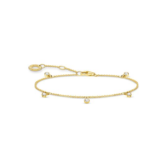 Bracelet blanche pierres or de la collection Charming Collection dans la boutique en ligne de THOMAS SABO