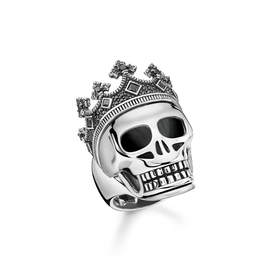 ring skull crown from the Rebel at heart collection in the THOMAS SABO online store