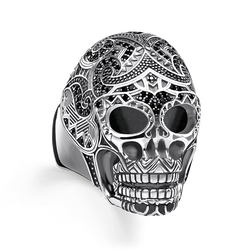 "ring ""Maori skull"" from the Rebel at heart collection in the THOMAS SABO online store"