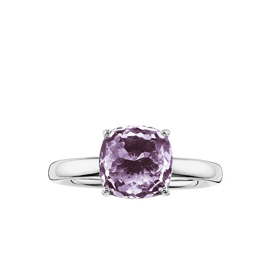 solitair ring purple from the Glam & Soul collection in the THOMAS SABO online store