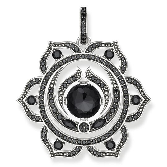 "pendant ""black splenic chakra"" from the Chakras collection in the THOMAS SABO online store"