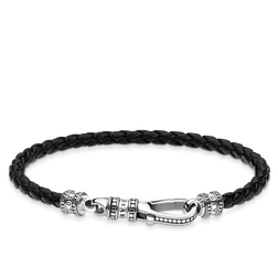 Bracelet cuir Mousqueton de la collection Rebel at heart dans la boutique en ligne de THOMAS SABO