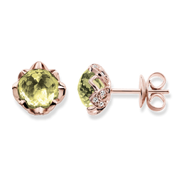 """ear studs """"green lotus flower"""" from the Glam & Soul collection in the THOMAS SABO online store"""