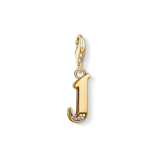 Charm pendant letter J gold from the Charm Club collection in the THOMAS SABO online store