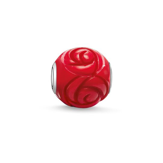 Bead rose rouge de la collection Karma Beads dans la boutique en ligne de THOMAS SABO