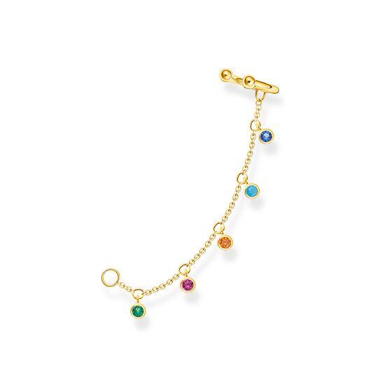 Manchette d'oreille pierres colorées or de la collection Charming Collection dans la boutique en ligne de THOMAS SABO