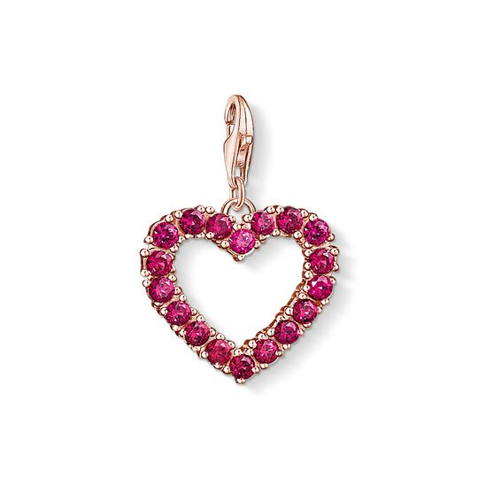 Charm pendant red heart from the Charm Club collection in the THOMAS SABO online store