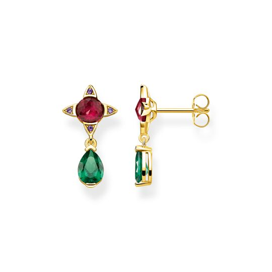 earrings Green drop with red stone from the Glam & Soul collection in the THOMAS SABO online store