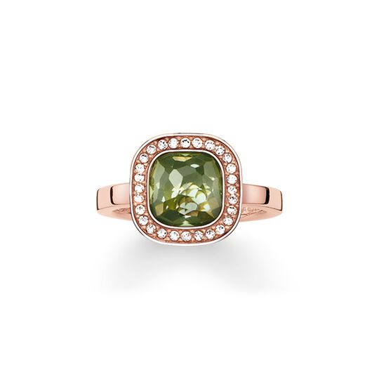 solitaire ring green cosmo from the  collection in the THOMAS SABO online store