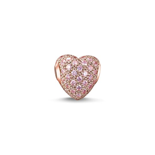 Bead hot pink pavé heart from the Karma Beads collection in the THOMAS SABO online store