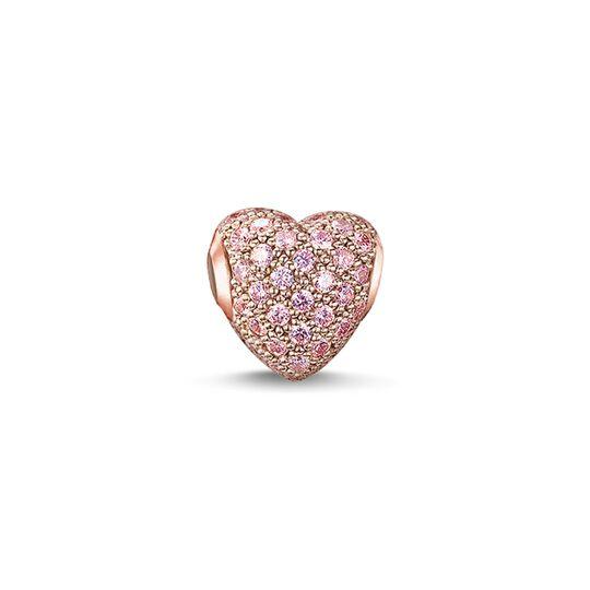Bead cœur avec pavé rose de la collection Karma Beads dans la boutique en ligne de THOMAS SABO