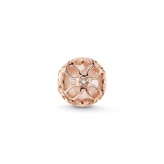Bead pink lotus flower from the Karma Beads collection in the THOMAS SABO online store