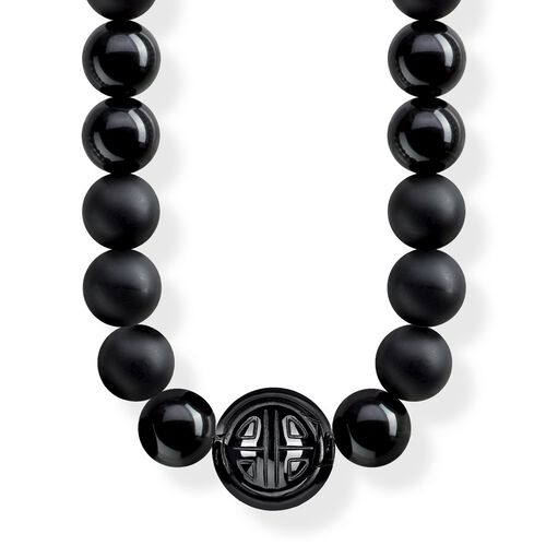 """necklace """"Power Necklace Black"""" from the Glam & Soul collection in the THOMAS SABO online store"""