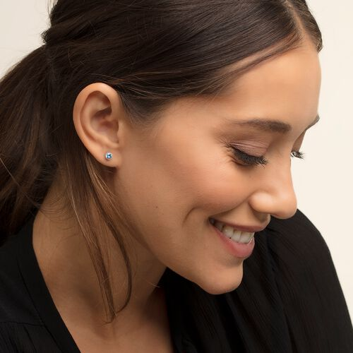 """ear studs """"Royalty Light Blue Stone"""" from the Glam & Soul collection in the THOMAS SABO online store"""