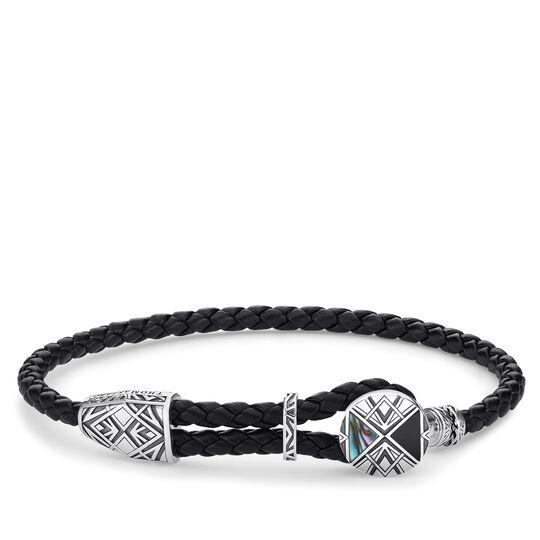 """bracelet cuir """"médaille"""" de la collection Rebel at heart dans la boutique en ligne de THOMAS SABO"""
