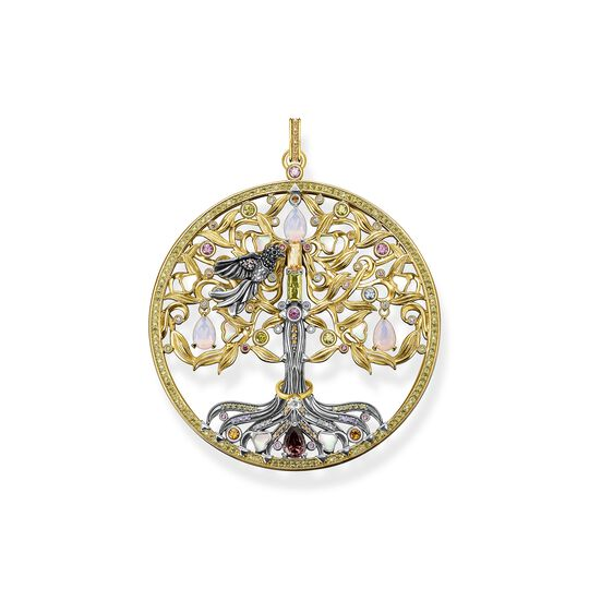 Pendant tree of love gold raven from the  collection in the THOMAS SABO online store