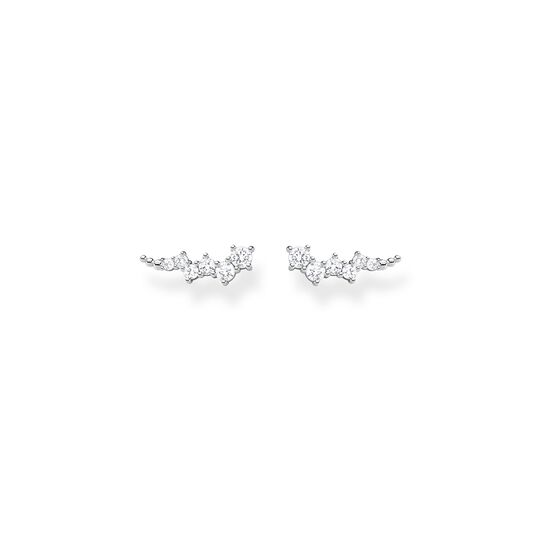 Ear climber white stones, silver from the Charming Collection collection in the THOMAS SABO online store