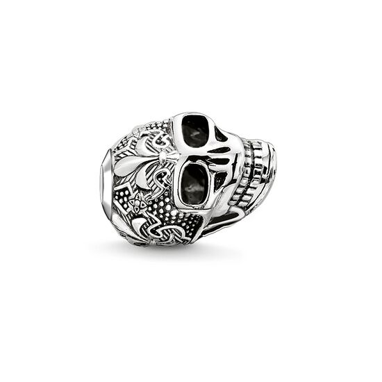 """Bead """"skull with lily"""" from the Karma Beads collection in the THOMAS SABO online store"""