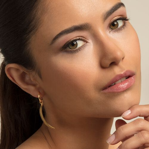 """hoop earrings """"moon"""" from the Glam & Soul collection in the THOMAS SABO online store"""