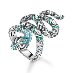 "anello ""serpente"" from the Glam & Soul collection in the THOMAS SABO online store"