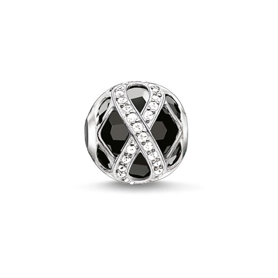 "Bead ""infinity nero"" from the Karma Beads collection in the THOMAS SABO online store"