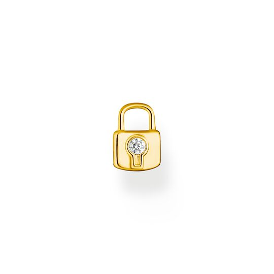 Single ear stud lock gold from the Charming Collection collection in the THOMAS SABO online store