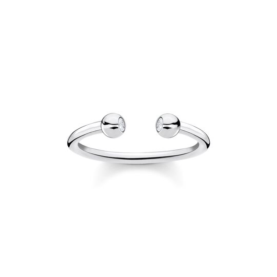Ring dots stones silver from the Charming Collection collection in the THOMAS SABO online store