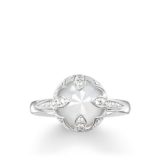 """solitaire ring """"white lotus"""" from the Glam & Soul collection in the THOMAS SABO online store"""
